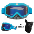 Motorcycle Goggles Blue Color Motocross Helmet Goggles Glasses Occhiali Occhialoni Mask Blue Motocicletta Windproof