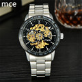 MCE Brand Luxury Automatic Mechanical Watches Men Full Stainless steel waterproof Gold Skeleton Watches men relojes 2017