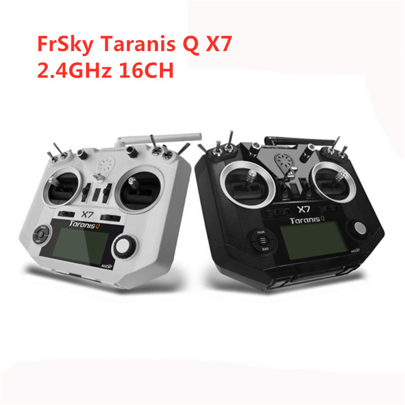 FrSky ACCST Taranis Q X7 2 4G 16CH Mode 2 Transmitter Remote Controller White Black International
