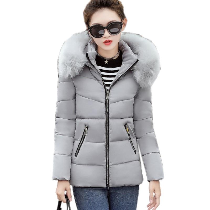 YSMARKET mode automne hiver veste femmes vestes en laine Parka Slim col en fourrure à capuche hiver manteau femmes luxe doudoune