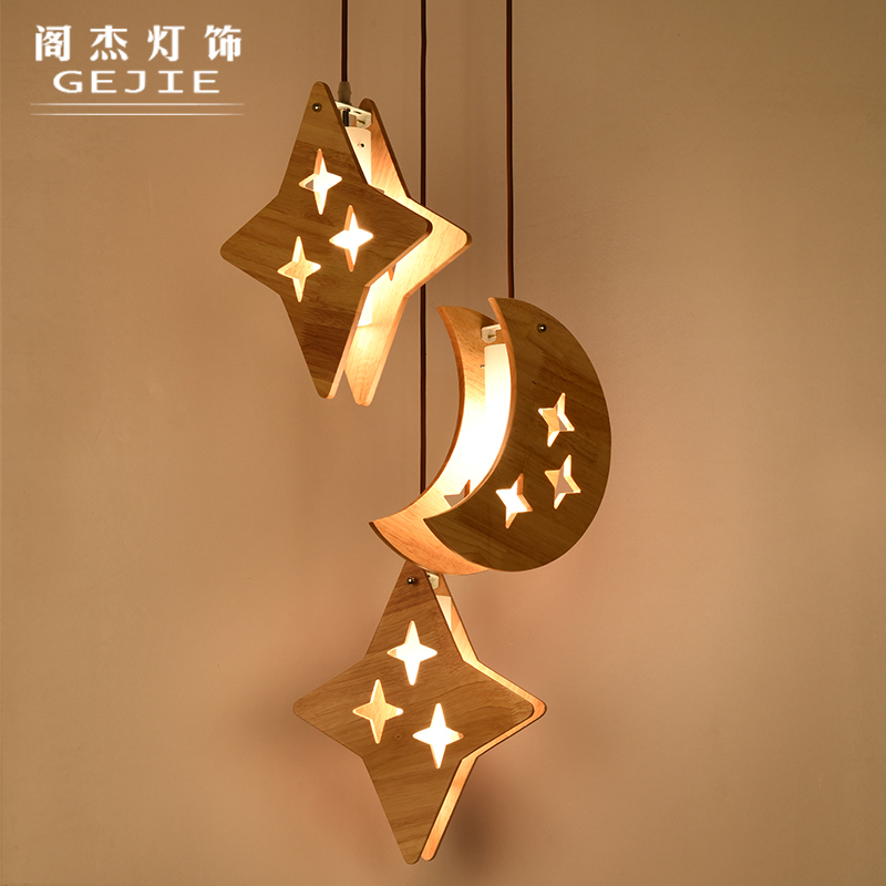 WOOD lamps American style wooden chandelier lamp head wood Japanese Nordic Korean creative dining room zb53 bamboo wooden pendant lamp head wood japanese nordic korean creative dining room pendant lamps zb53