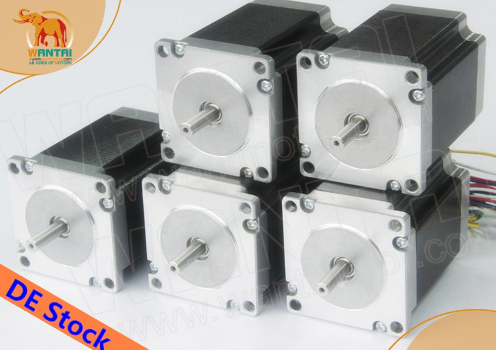 [EU FREE] CNC Wantai 5PCS Nema23 Stepper Motor 57BYGH115-003B Dual Shaft 425oz-in 115mm 3A CE ROHS ISO DE FR IT DK Free great cnc wantai 3 axis nema23 stepper motor 57bygh115 003b 425oz dual shaft driver dq542ma 50v 4 2a 128micro