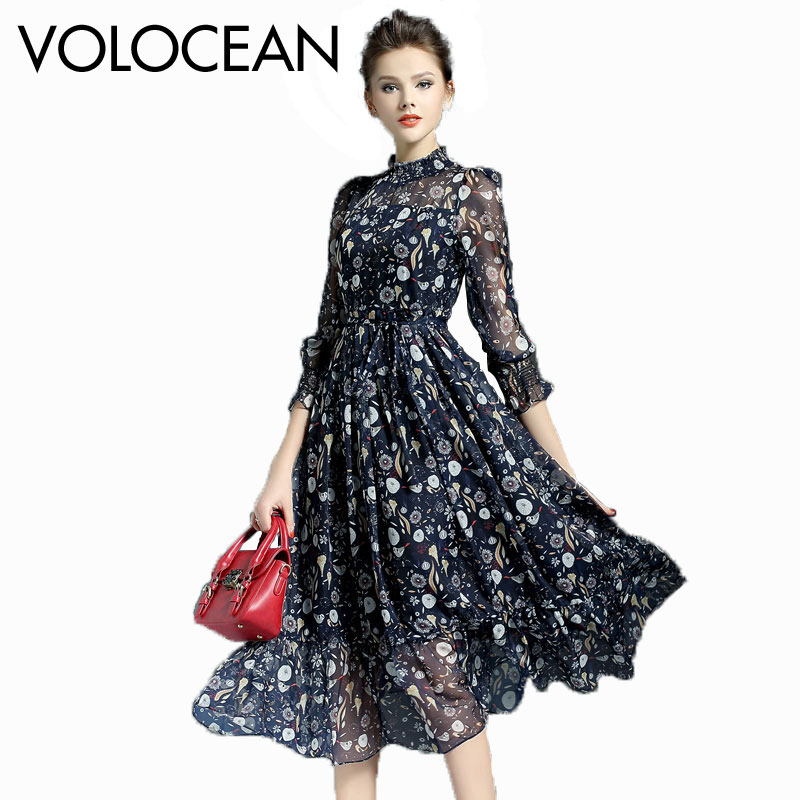Silk Gowns For Women: Volocean 2017 Vintage Silk Maxi Summer Dress For Women