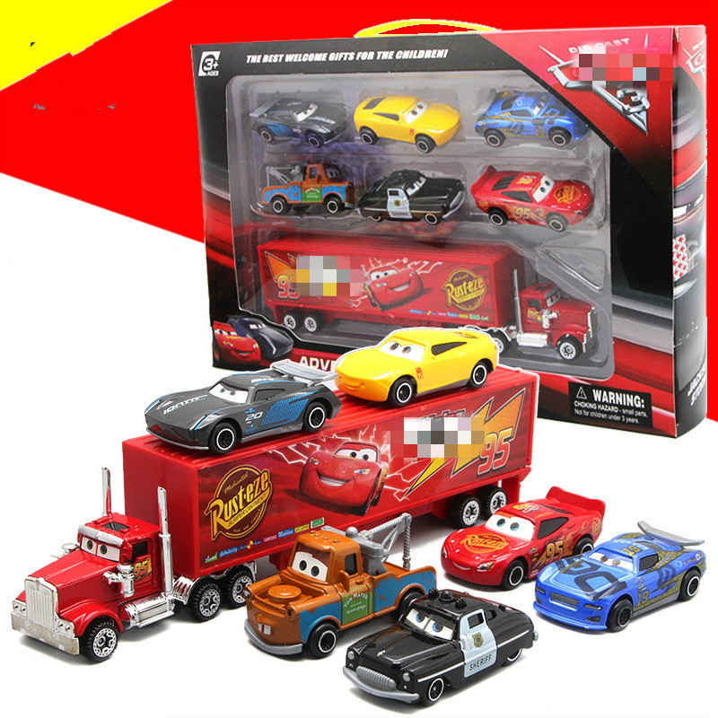 Pixar Cars Metal Diecast Toy Truck Combination Model Alloy Children Toys For Collection Christmas's Day Gift Juguetes Brinquedo все цены