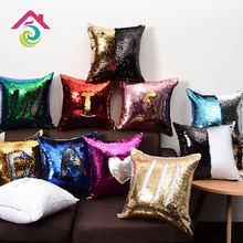 Cushion Cover DIY Sequin Sofa Hold Multiple Glitter Numbers Home Living Room Decoration Pillow Case JAS27