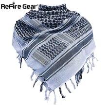 Refire gear арабский Тактический шема шарф армейский пустынный головной убор военный Keffiyeh шарфы хлопок Пейнтбольный боевой арабский шарф