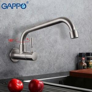 Image 1 - Gappo Keukenkraan Wall Mounted Enkel Koud Water Handvat 304 Roestvrij Keuken Water Kranen Koud Water Kraan