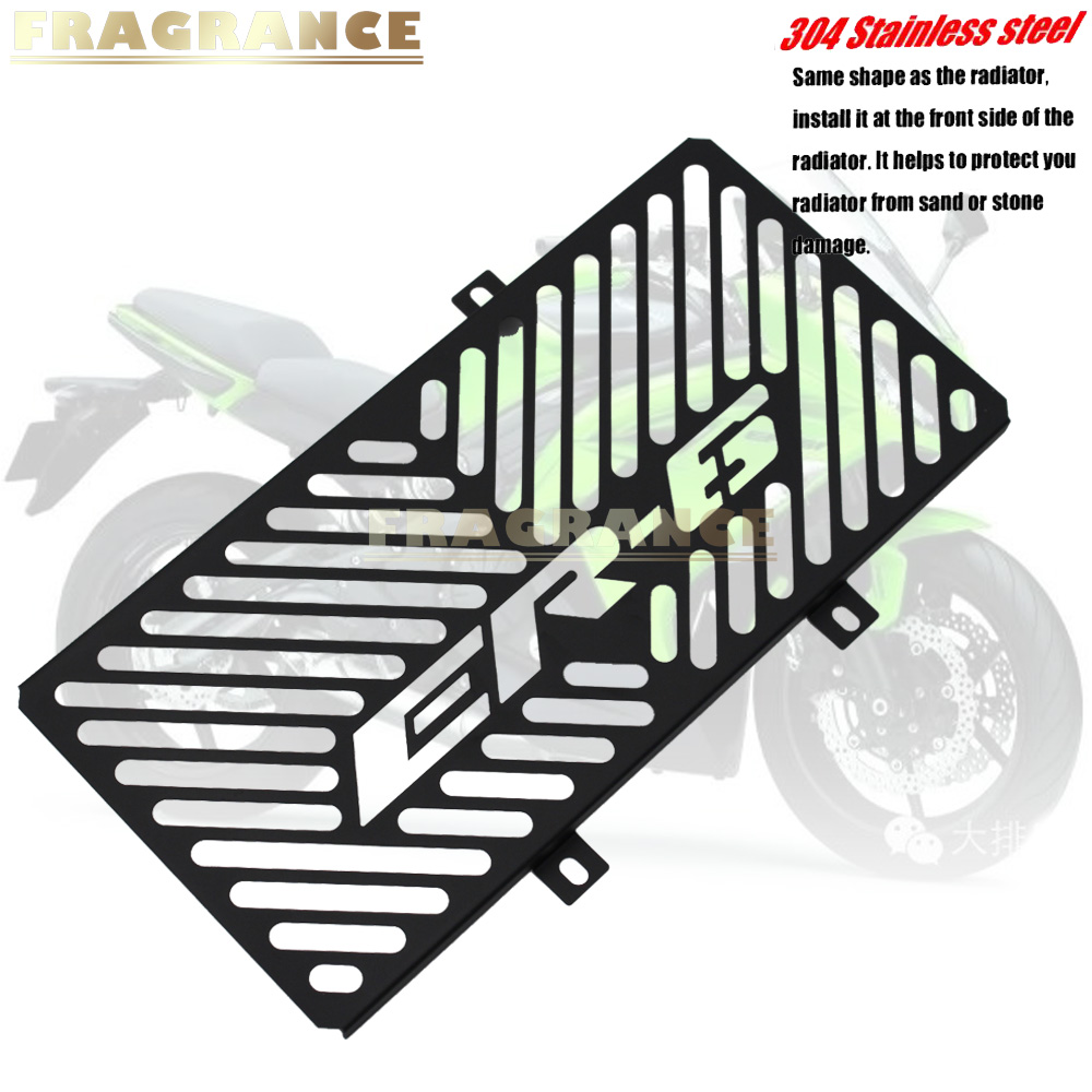 Motorcycle Accessories stainless steel Radiator grille guard protection cove For KAWASAKI ER-6N ER-6F ER6N ER6F NINJA 650R 12-1Motorcycle Accessories stainless steel Radiator grille guard protection cove For KAWASAKI ER-6N ER-6F ER6N ER6F NINJA 650R 12-1