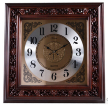 European Modern Design Solid Wood Clock