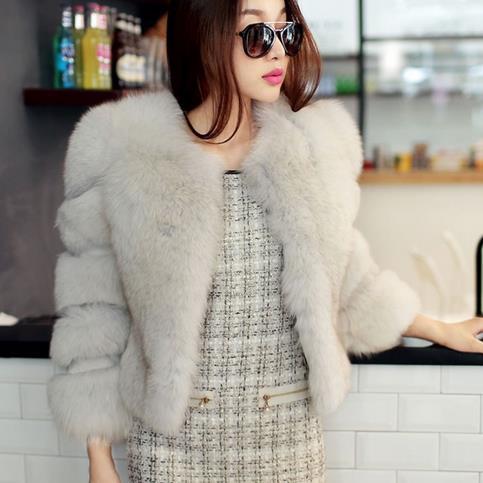 Loyal Summer Winter Ladies Mink Fur Coats 2019 Fluffy Women Faux Fox Fur Thicken Fluffy Coat Jacket Short Sexy Slim Overcoats Wr749 Bright In Colour Women's Clothing Jackets & Coats
