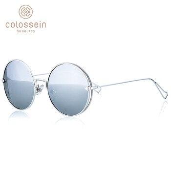 Colossein 패션 브랜드 빈티지 클래식 여성 선글라스 광장 금속 프레임 미러 새로운 렌즈 우아한 아름다움 안경 uv400
