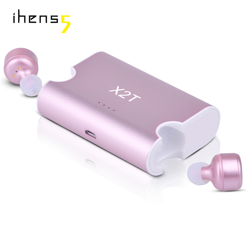 ihens5 True Twins Mini Wireless Bluetooth Earbuds V4.2 TWS X2T Earphones With Magnetic Charging Dock for iPhone 7 airpods xiaomi