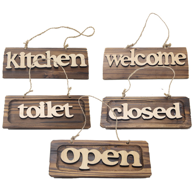Welcoming Board Store Wood Welcome Sign Decoration Plate Listing ...