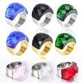 Серебряные и Позолоченные Большие Кольца для Женщин Свадебные Украшения Очень Большой Кристалл Камень Кольцо Из Нержавеющей Стали Anillos Кольца Для Коктейля