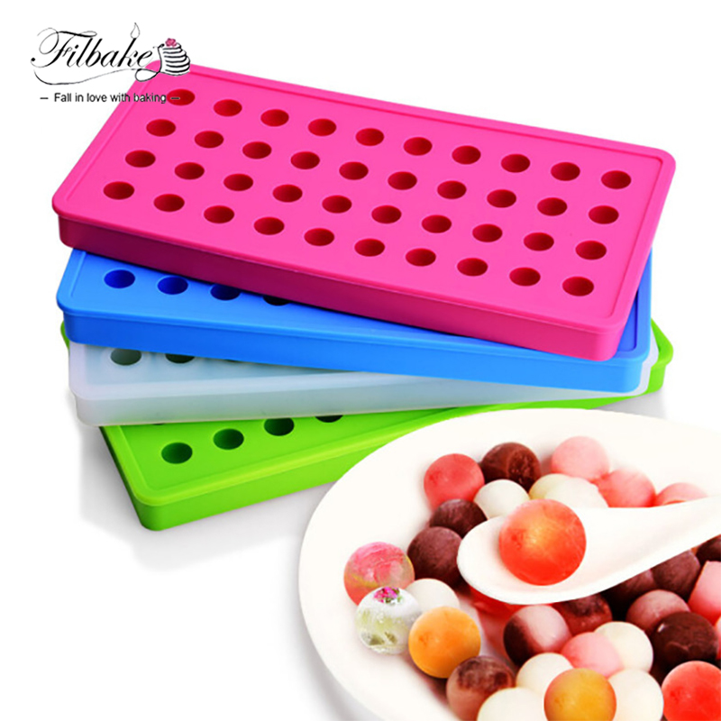 FILBAKE 40 - Hole Hockey Mold Round Small Ice Molds Silicone Freeze Ice ball Mold With Ice Cubes DIY Of Baking Tools