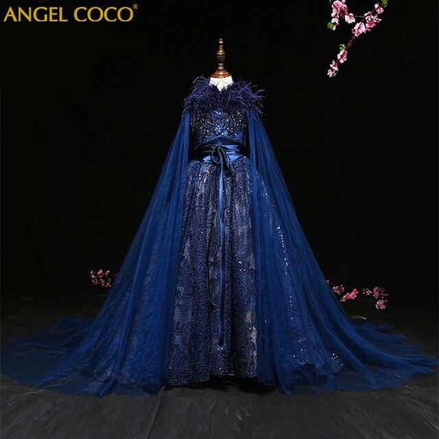 Luxury Princess Girl Evening Dress Shawl Robe De Soiree Beaded ...