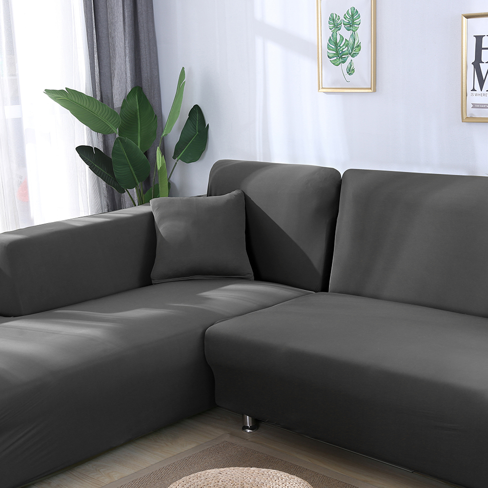 Grey Color Elastic Couch Sofa Cover Loveseat Cover Sofa