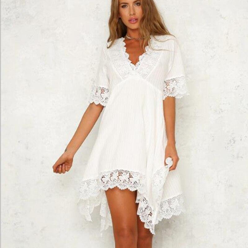 02dac88ae8a9f Lace Edge White V-Neck Pregnancy Dresses For Pregnant Women Maternity  Dresses For Photo Shoot