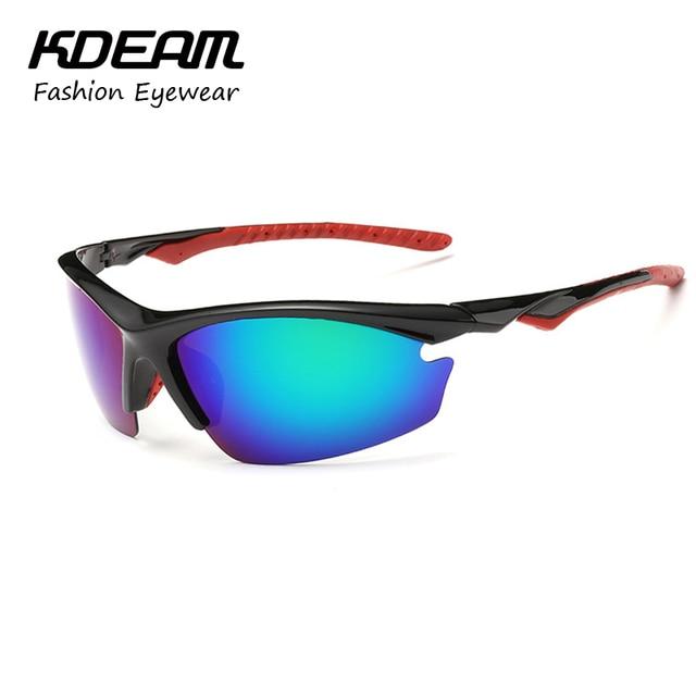 e6396b3789 Kdeam Brand Sunglasses Men Summer Comfort Eyewear Blade Design  Explosion-proof TAC Polarized Lens Glasses