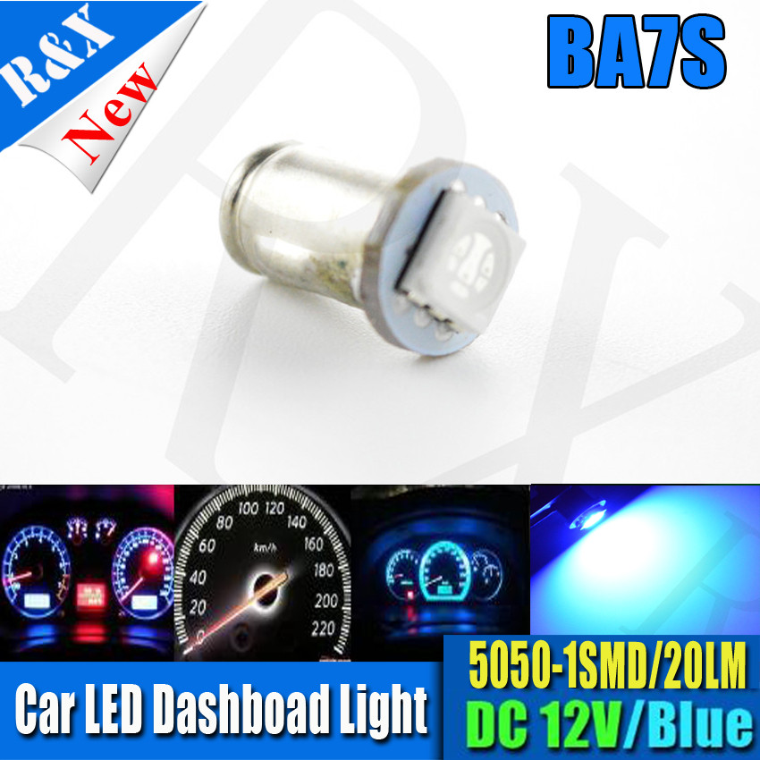 10x BA7S 5050 1SMD Car Dashboard LED Indicator Signal Warning Light Bulb Dash Lamp 12V Blue