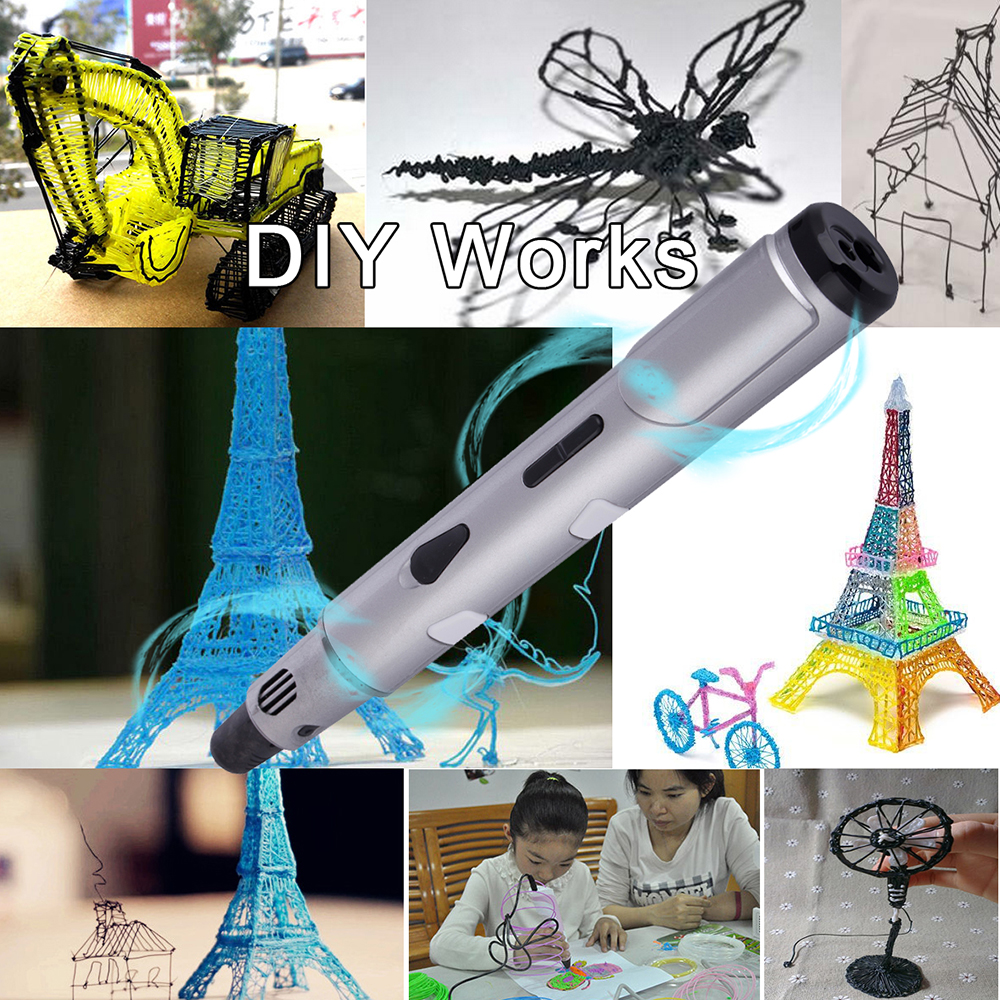 3D Pen DIY 3D Printing Pen ABS Filament Creative Toy Gift For Kids Design Drawing(China)