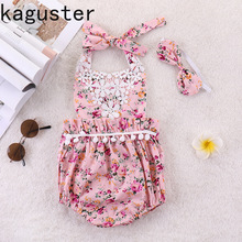 baby girls romper  girl clothes Summer Girls Dress High Quality Sling flower Printed Cute Clothing Sets Costumes
