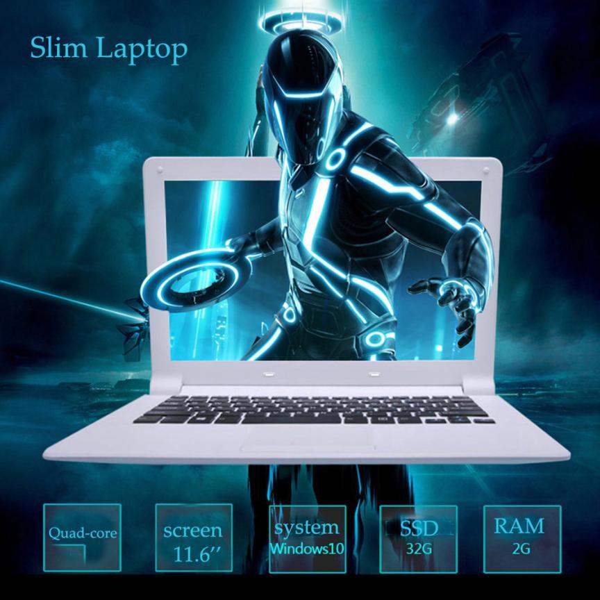 все цены на New Ultra-thin Quad-Core Laptop 11.6'' Screen Display 1366*768pixel 2G+32G Windows10 With System Language Portuguese 18Jun21 F онлайн