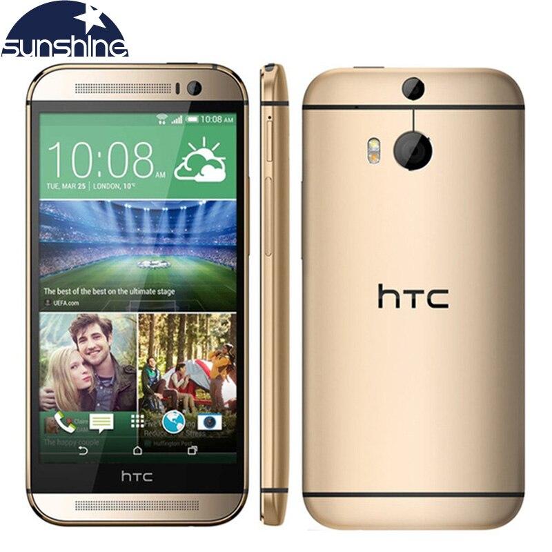 Unlocked Original HTC One M8 LTE Mobile Phone 2G RAM 16G/32G ROM Quad Core 5″ 3 Cameras WCDMA Refurbished Smartphone