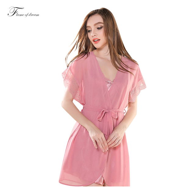 Ночная рубашка Пижамы Халат Банный Халат Пижамы Camisones Y Batas Conjunto Де Roupas Mujer 289