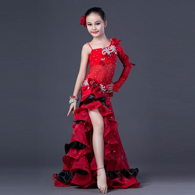 6b02fde7a546 2018 New Professional luxury Bellydance Costume Girls Mesh + Chiffon ...