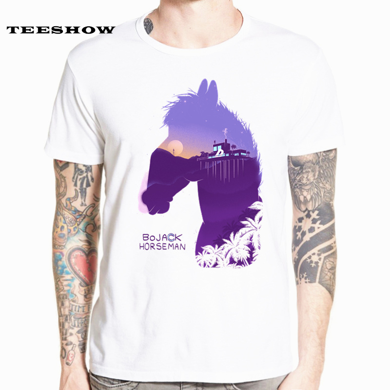 Bojack Horseman Funny Cartoon   T     Shirts   Man Short Sleeve Fashion Print Summer Casual Unisex   T  -  shirt   For Man/woman HCP4531