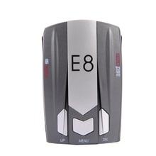E8 Voz de Banda Completa de 360 grados de detección de Escaneo Anti-Policía LED GPS inglés ruso advertencia detector de radar x k ka ct la 12 v DC