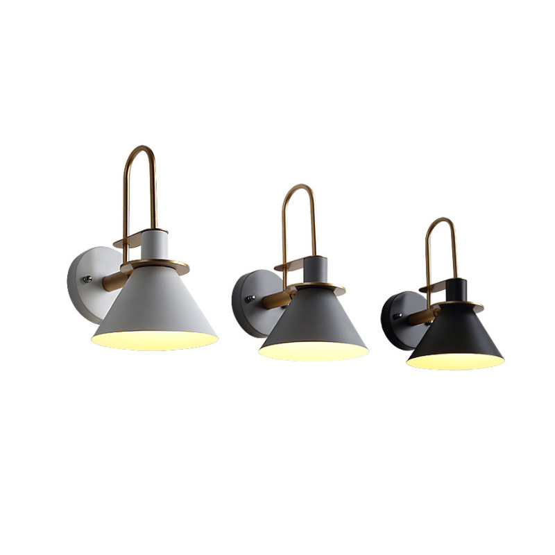 Post Modern Wall Lights Sconce Creative Iron Horn LED Nordic Simple Modern Wall Light For Bedside Wall Lamp Home Indoor Lighting Fixture E27 E26 (19)