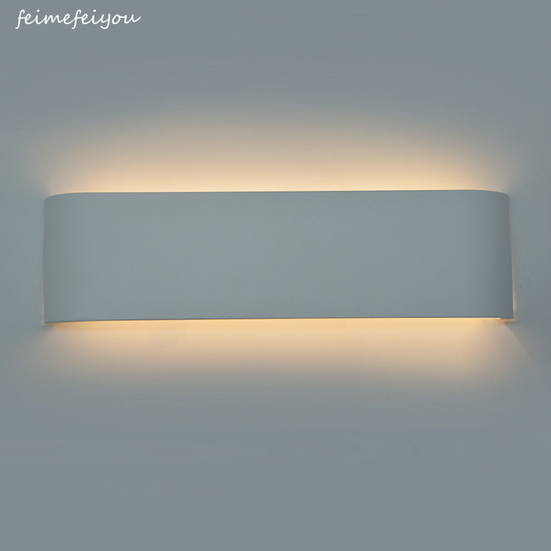 Modern minimalist LED aluminum lamp bedside lamp wall lamp bathroom mirror light AC96~260V Led Wall Light modern minimalist waterproof antifog aluminum acryl long led mirror light for bathroom cabinet aisle wall lamp 35 48 61cm 1134