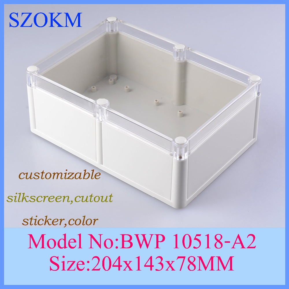 4 pcs/lot  204x143x78mm abs plastic box szomk control enclosure electronic case enclosures for electronics 204x143x78mm itap 143 2 редуктор давления