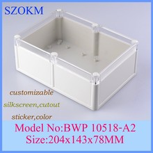 4 pcs/lot  204x143x78mm abs plastic box szomk control enclosure electronic case enclosures for electronics 204x143x78mm