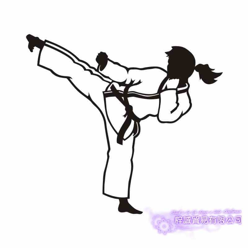Karate Vrouw Mma Muursticker Kick Play Decal Gratis Combat Vinyl Striker Muurstickers Decor Mixed Martial Arts Club Auto decal