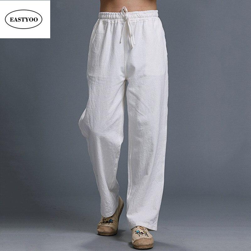 Estremamente Online Shop Lino bianco Pantaloni Uomo Estate Pantaloni Casual  UY62
