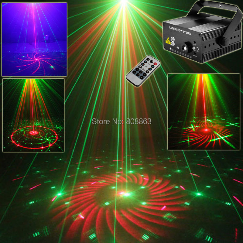 Mini Blue Led R&G Laser 24 Patterns Projector DJ Equipment Club Disco Bar Xmas Holiday Light Dance Party Stage Lights show L24 new mini red blue line pattern gobo remote laser projector dj club light dance bar party xmas disco effect stage lights show b55