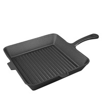 PREUP Non Sticky Cast Iron Steak Frying Pan Breakfast Frying Pan General Use For Gas Induction