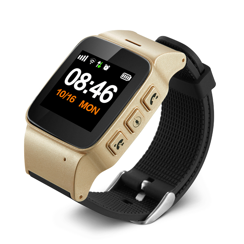 1.22 Big Screen D99+ Smart Watch Elderly kids Smart Watch Phone SOS Anti-lost Gps+Wifi Tracking for iphone Android phones
