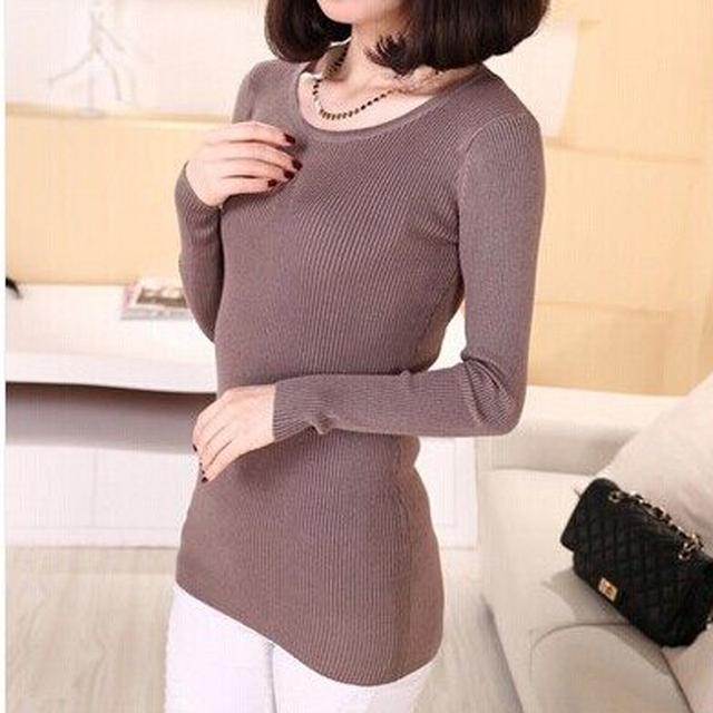 DisappeaRanceLove Marca 2017 projeto short slim mulheres camisola básica feminina suéter gola Redonda tricô um suéter
