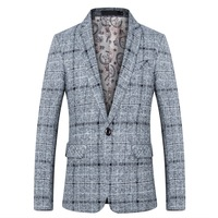 2018 fashion new men's casual boutique suit / Man's business plaid dress blazers coat jacket Men Blazers