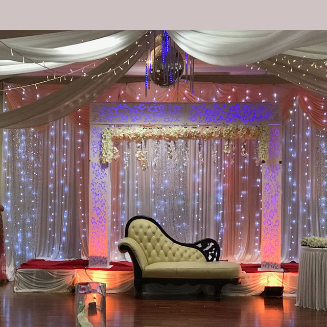 Top Selling Led Light For Table Skirt Backdrop Curtain Ceiling Drape  Wedding Party Decoration
