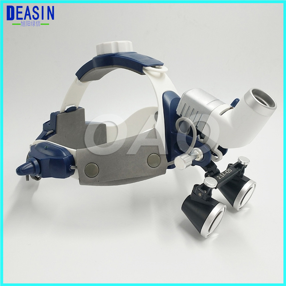 Good Quality 5W LED Surgical Head Light Dental Lamp All-in-Ones Headlight With Loupes 2.5X , 3.5 Dental Loupes