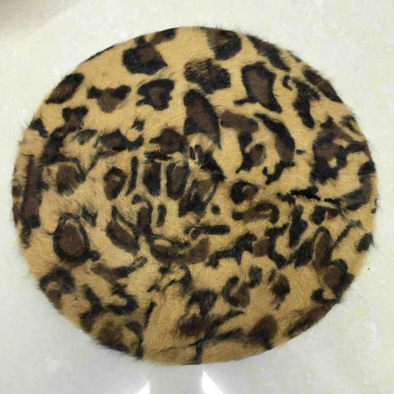 5304058d1bdec Fashion Korean Autumn Winter Women Sexy Beret Vintage Leopard Printed Hat  Beanie Cap Ladies Girls Casual