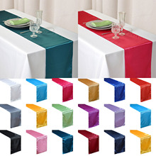 Satin Table Runner 30cm x 275cm For Wedding Party Event Banquet Home Xmas Table Decoration Supply Table Cover Tablecloth