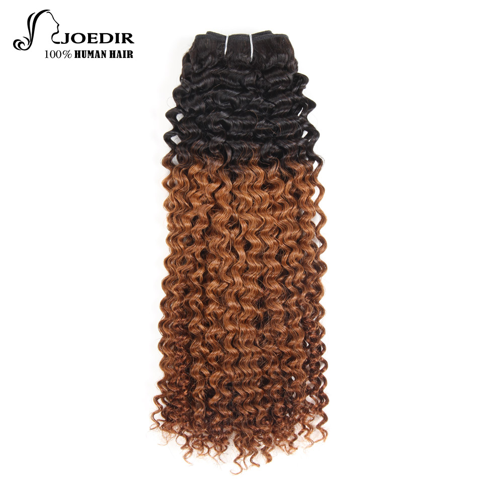 Hair Extensions & Wigs Joedir Ombre Hair Bundles Brazilian Water Wave 1 Piece Remy Hair 113g 100% Human Hair Extensions Ombre Color Free Shipping Demand Exceeding Supply