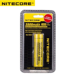 Image 5 - Nitecore NL1835 18650 3500mAh(new version of NL1834)3.6V 12.6Wh Rechargeable Li on Battery high quality with protection