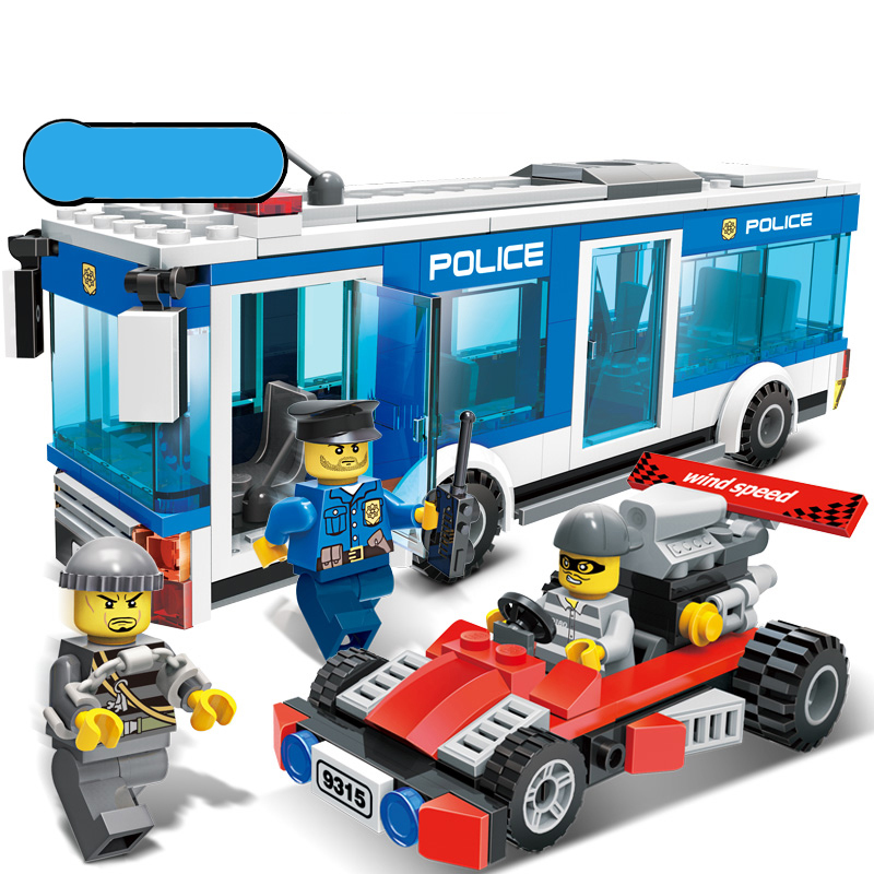 256Pcs Police Station Building Blocks Bricks Educational Toys Compatible with Legoe city Birthday Gift Toy Brinquedos for boy city series police car motorcycle building blocks policeman models toys for children boy gifts compatible with legoeinglys 26014